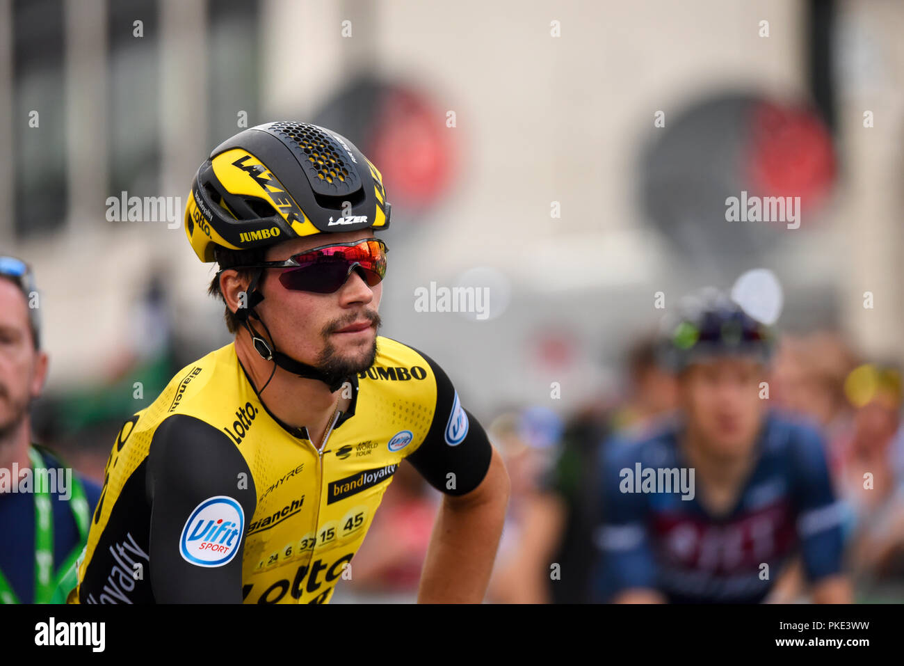 Primoz Roglic of Team Lotto NL Jumbo at the OVO Energy Tour of Britain cycle  race 78e0eddd1