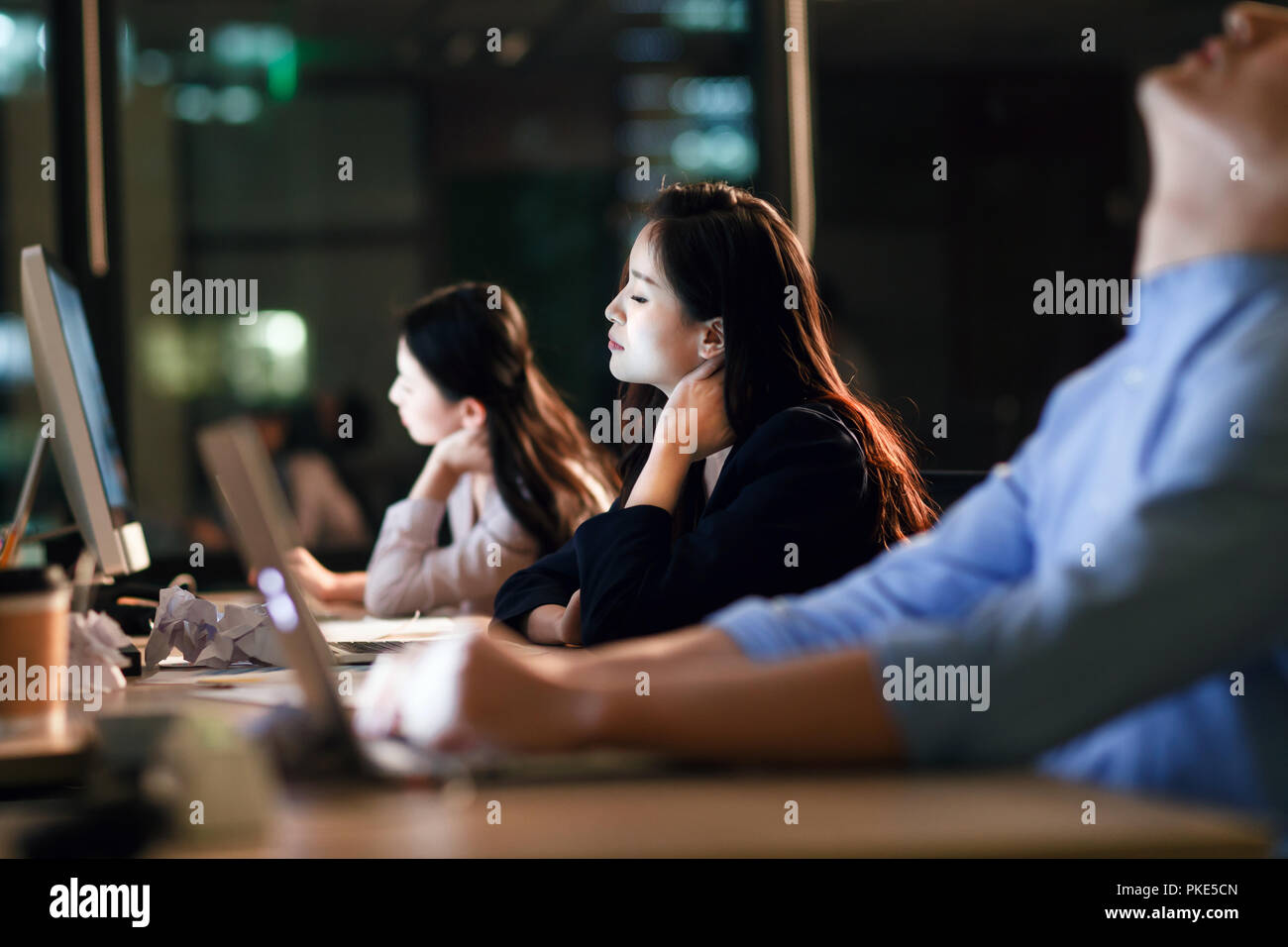 Business team in the office - Stock Image