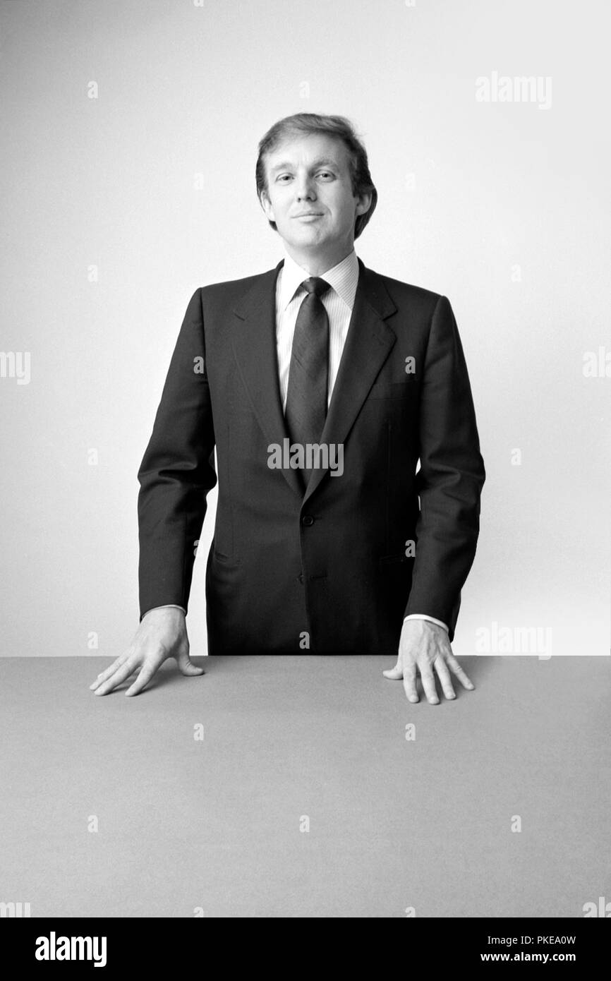 Donald Trump 1980 - Stock Image