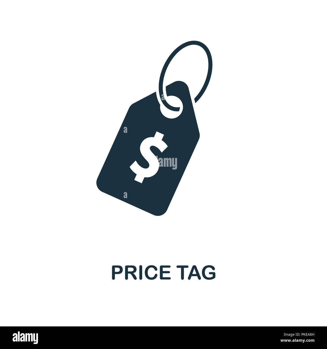 Price Tag Icon Monochrome Style Design From E Commerce Collection