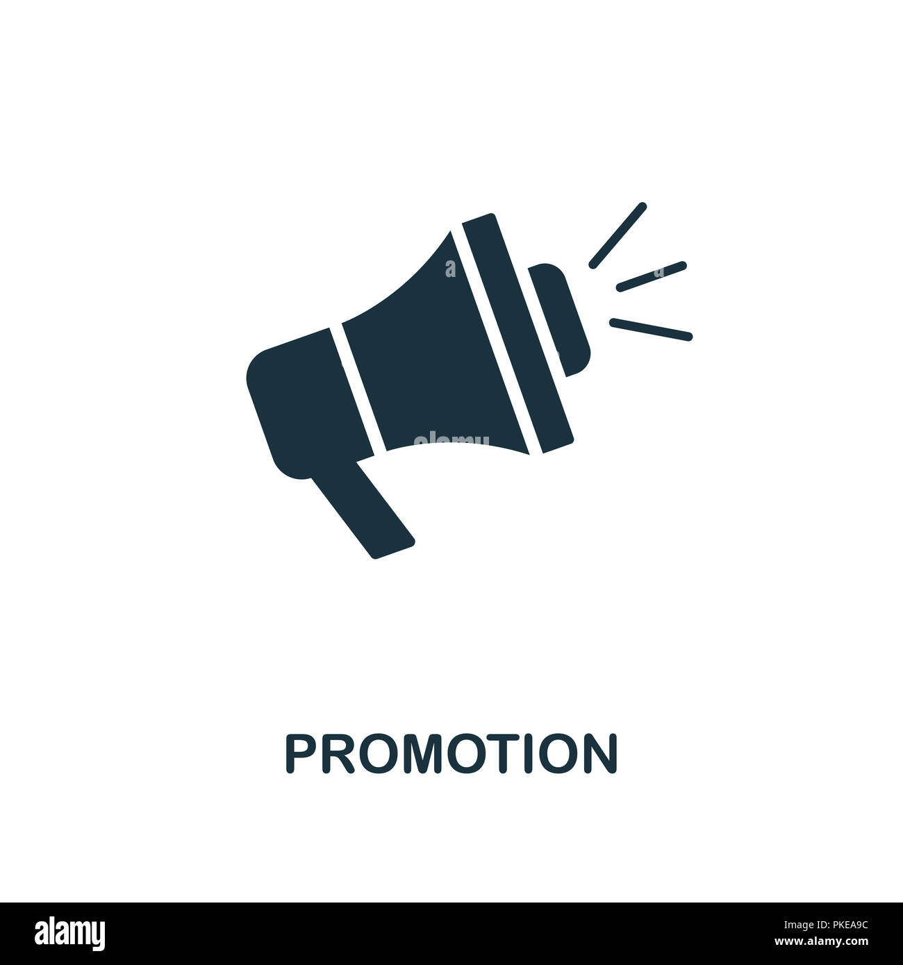 Promotion icon. Monochrome style design from e-commerce collection. UI. Pixel perfect simple pictogram promotion icon. Web design, apps, software, pri - Stock Image