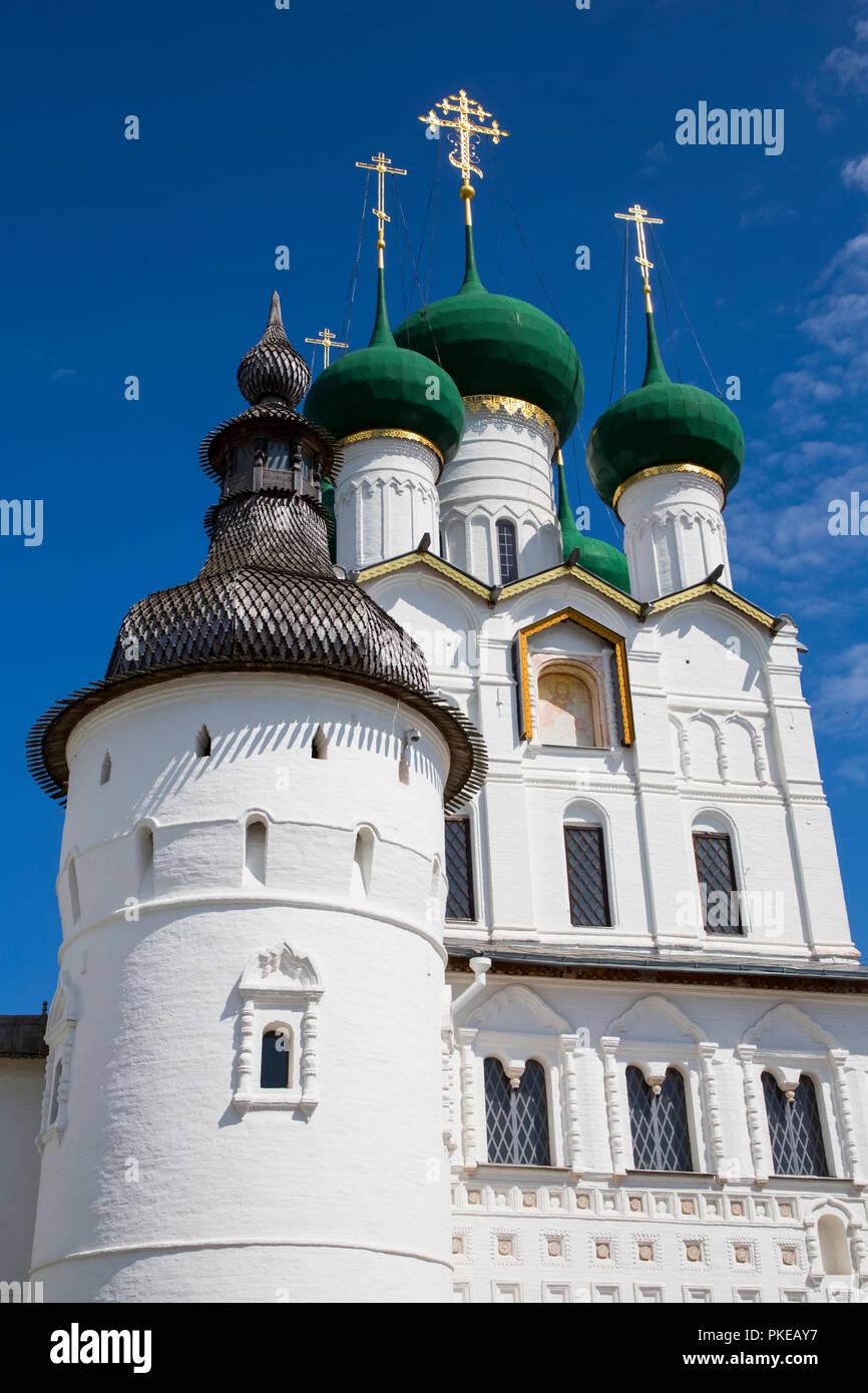 Gate Church of St. John the Divine, Kremlin, Golden Ring; Rostov, Yaroslavl Oblast, Russia - Stock Image