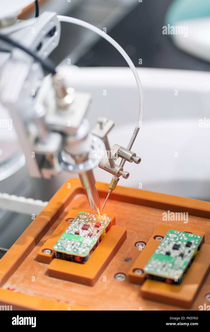 Robotic Soldering Used In Multilayer Board And Shielding Wiring Case