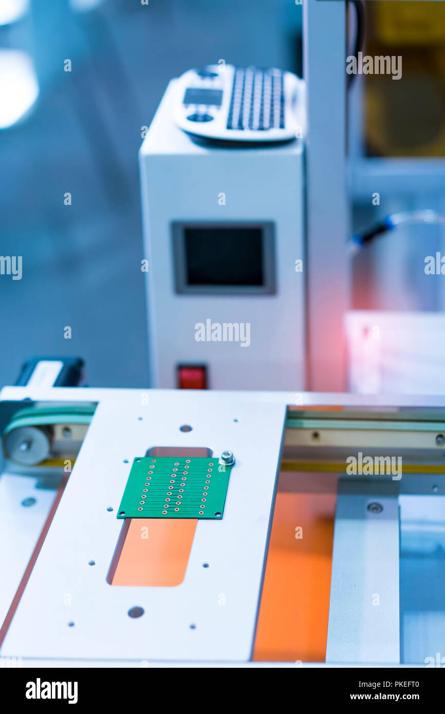 Automated Manufacturing Soldering And Assembly Pcb Board Stock Photo Printed Wiring Manufacturers