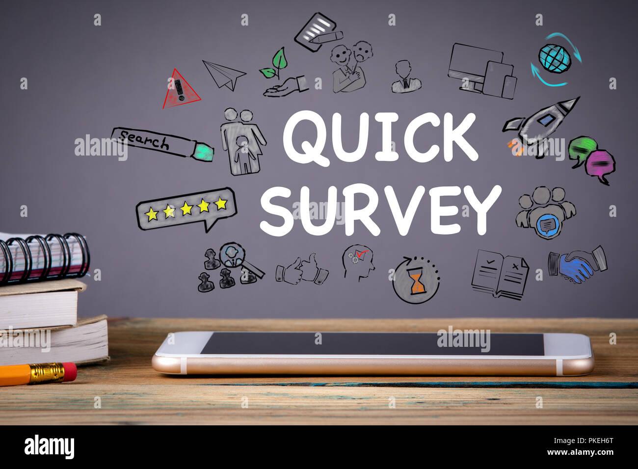 quick survey, Media Technology concept - Stock Image