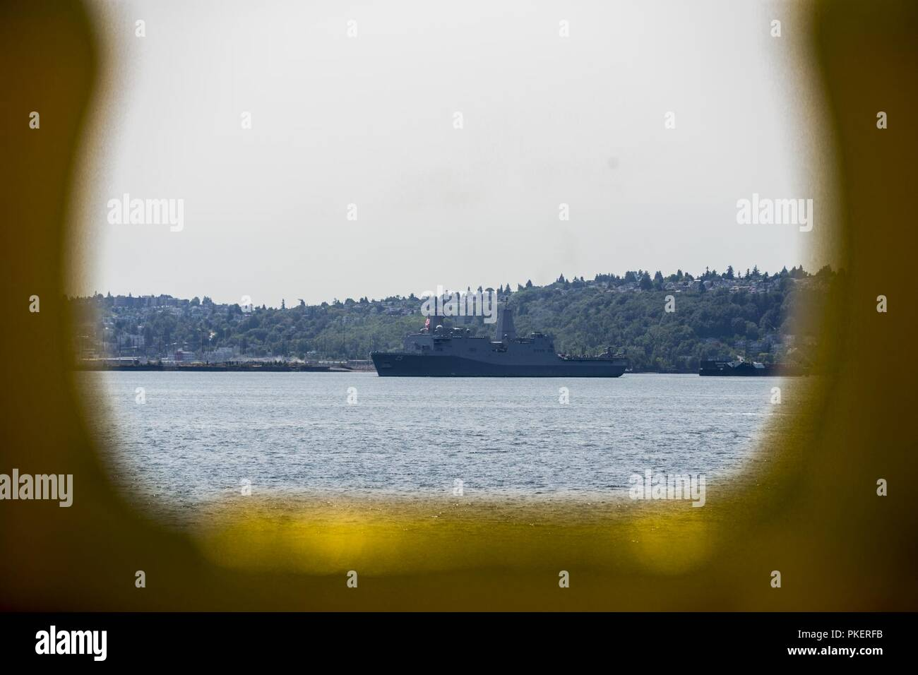 SEATTLE (July 31, 2018) USS Somerset (LPD 25) participates