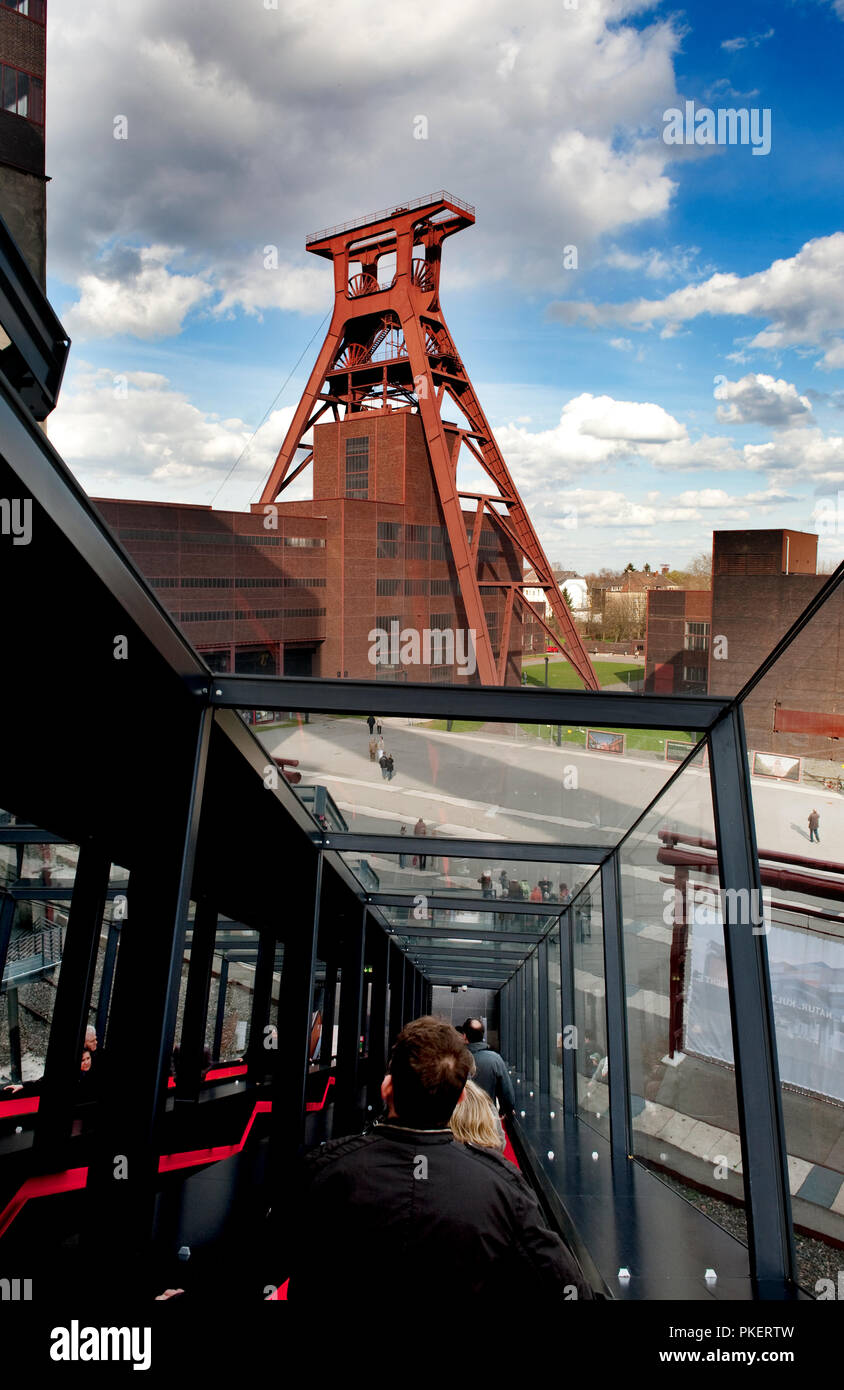 The Ruhrmuseum at the Zollverein Coal Mine Industrial Complex in Essen, redesigned by architects Rem Koolhaas and Heinrich Böll (Germany, 02/04/2010) - Stock Image