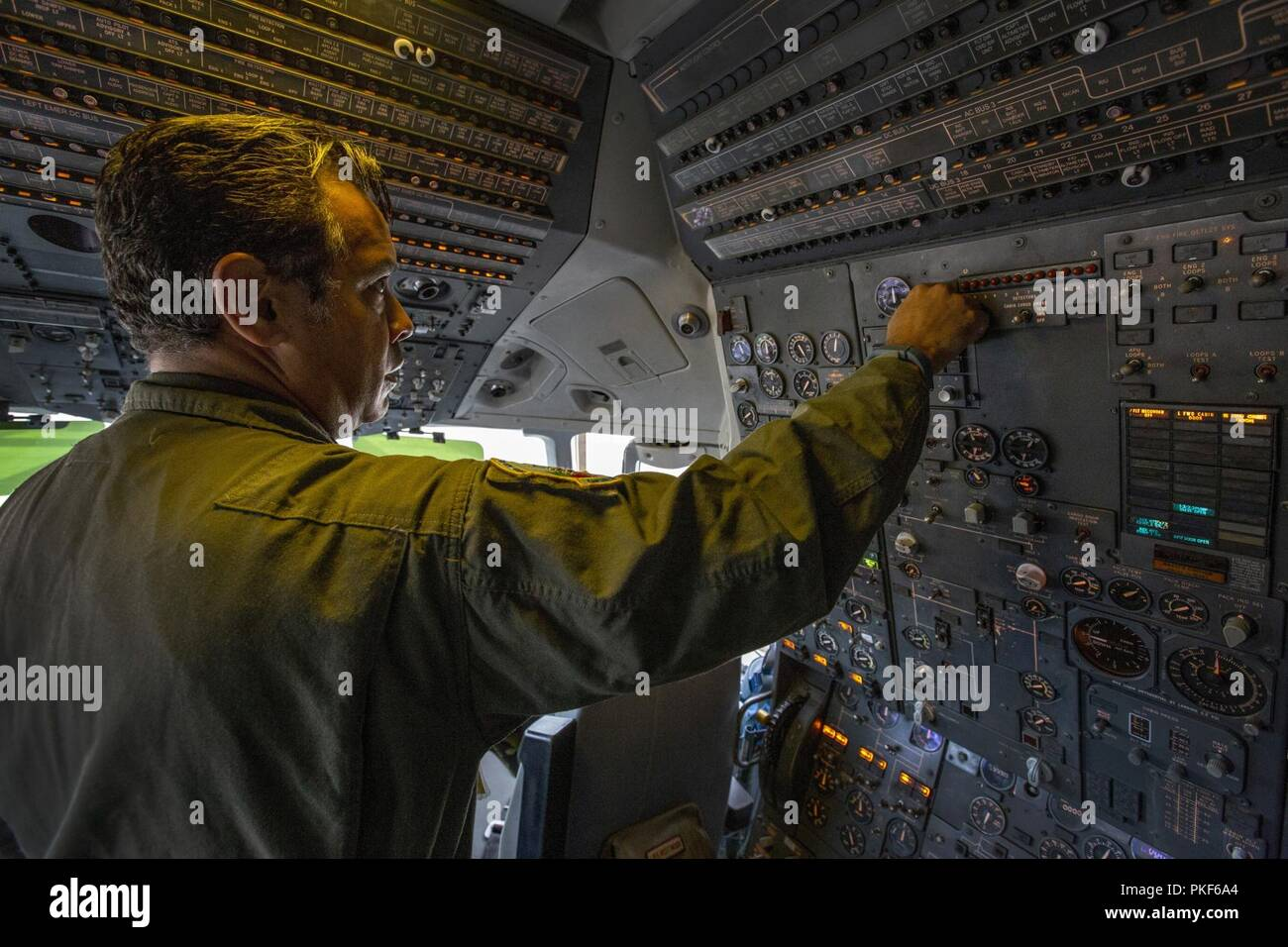 U S  Air Force Master Sgt  Wilfred F  Rivera, a KC-10 Extender