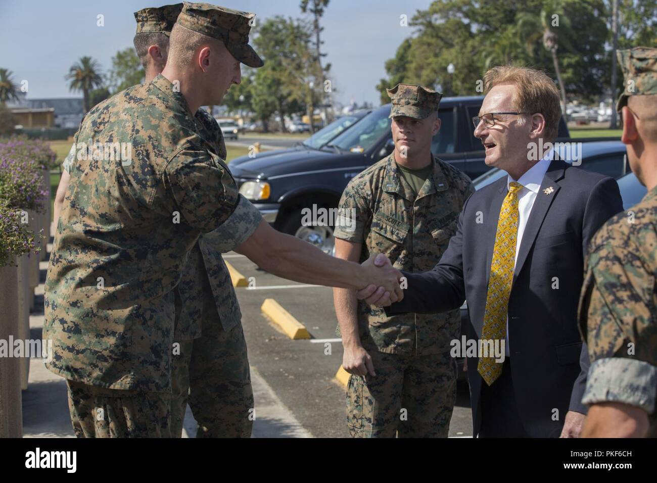 Marines from Marine Corps Recruit Depot San Diego, welcome
