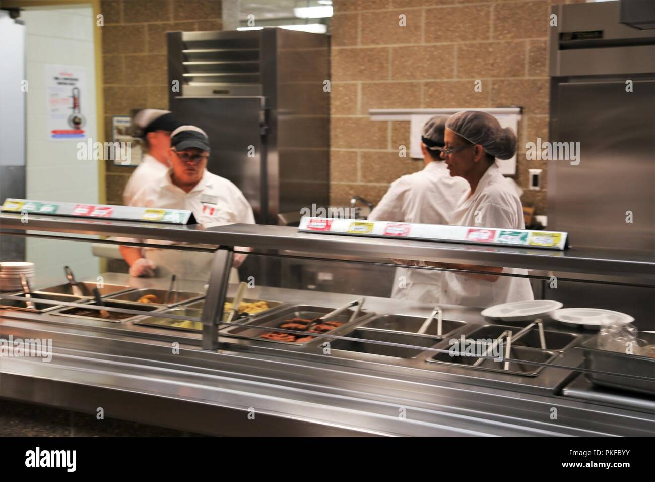 Employees with contractor DCT Inc  work in the dining