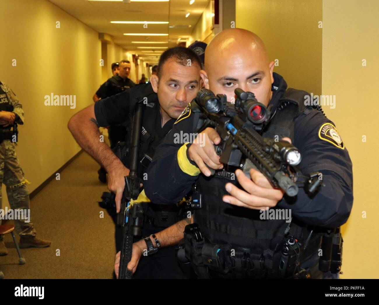 Officer David Maulen of Lakewood Police Department trains on