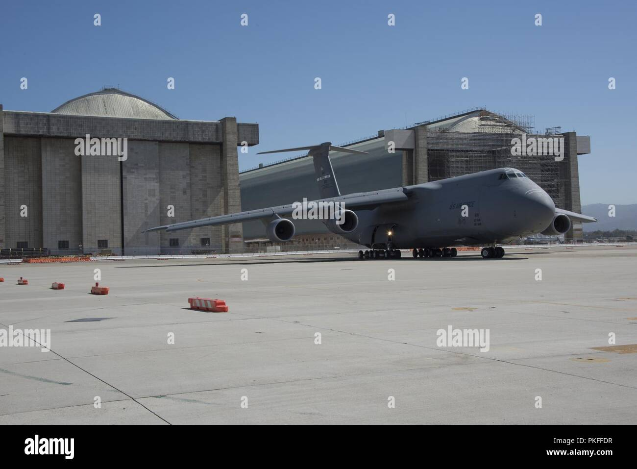 A C-5M Super Galaxy from Travis Air Force Base, Calif  arrives at