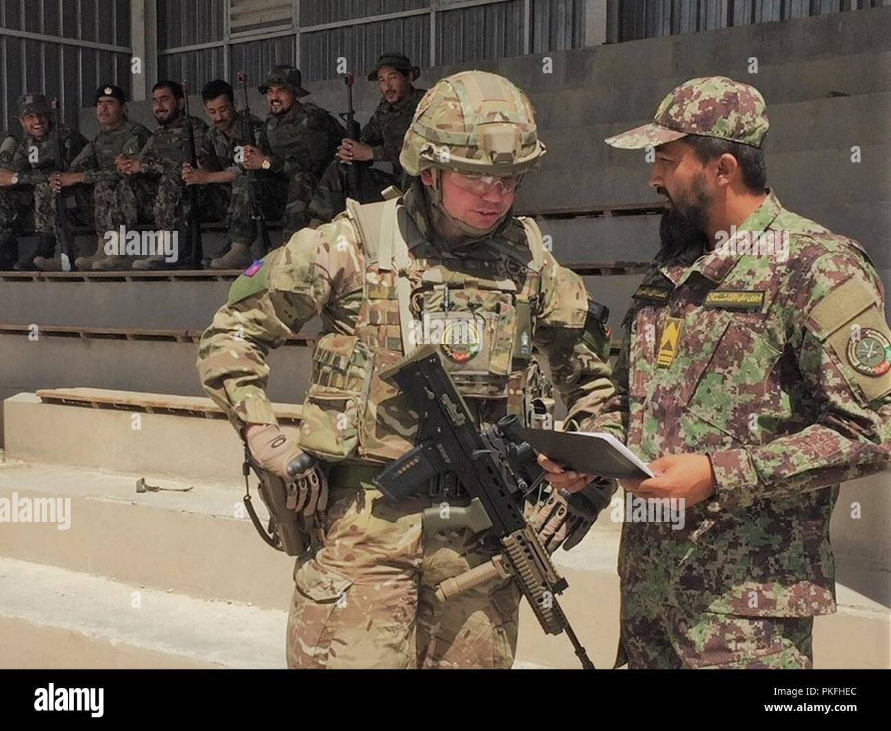 What Is The Best Military Branch >> Kabul Afghanistan July 31 2018 British Officers And Soldiers