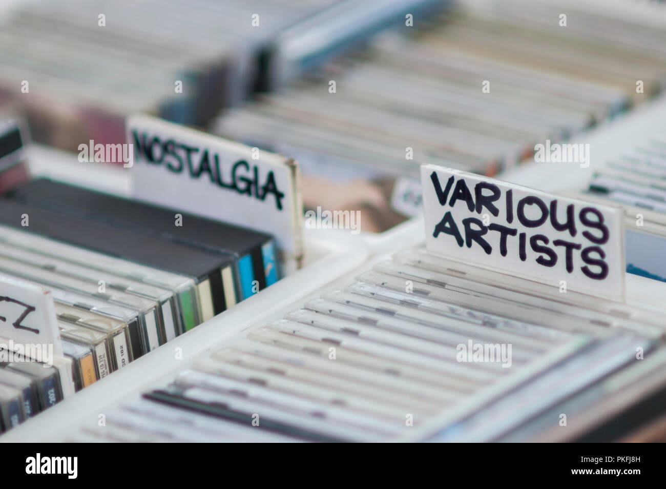 Second hand CDs for sale - Stock Image