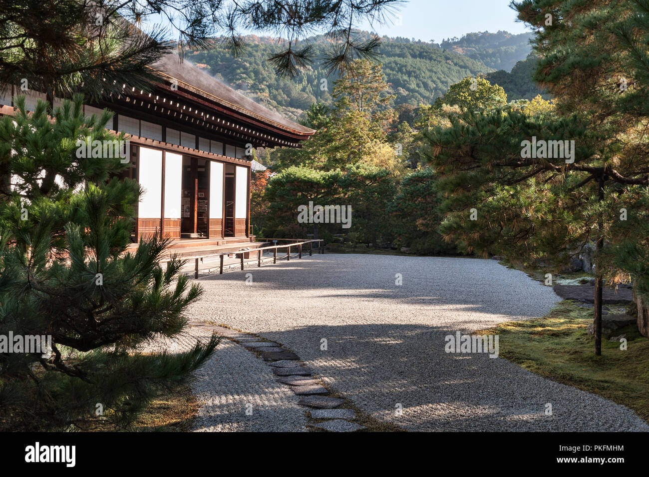 Nanzen-ji, Kyoto, Japan. The kare-sansui (dry landscape) garden at Konchi-in zen temple - Stock Image