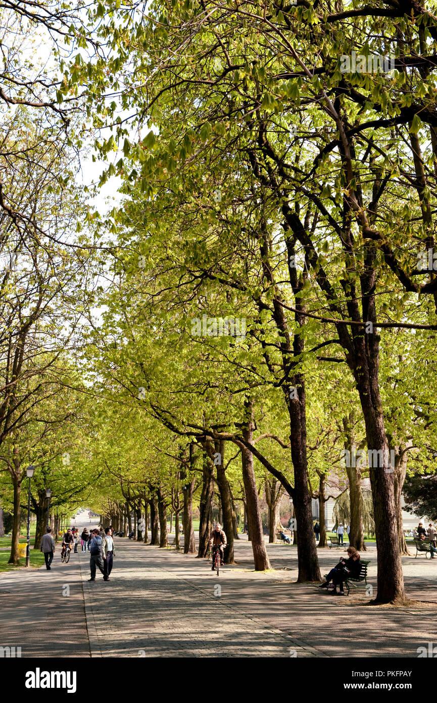 The Parc des Bastions, originally the first botanical garden in Geneva (Switzerland, 16/04/2010) Stock Photo