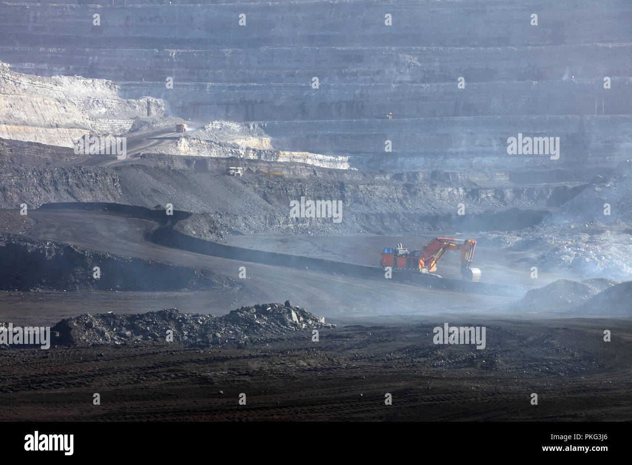 In open-pit mine - Stock Image