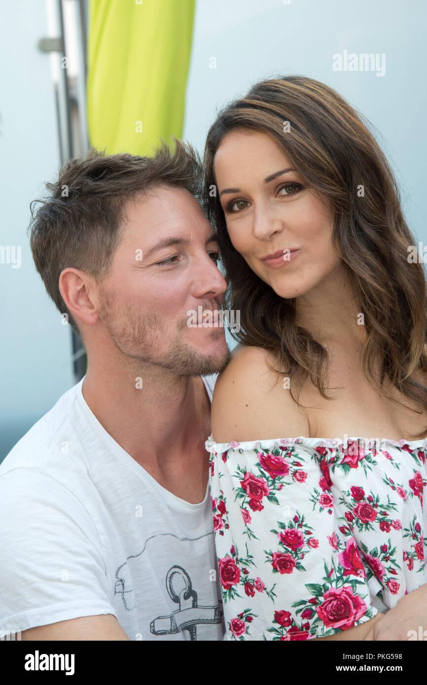 Renee WEIBEL, SWI, actress, with her partner Dirk MORITZ