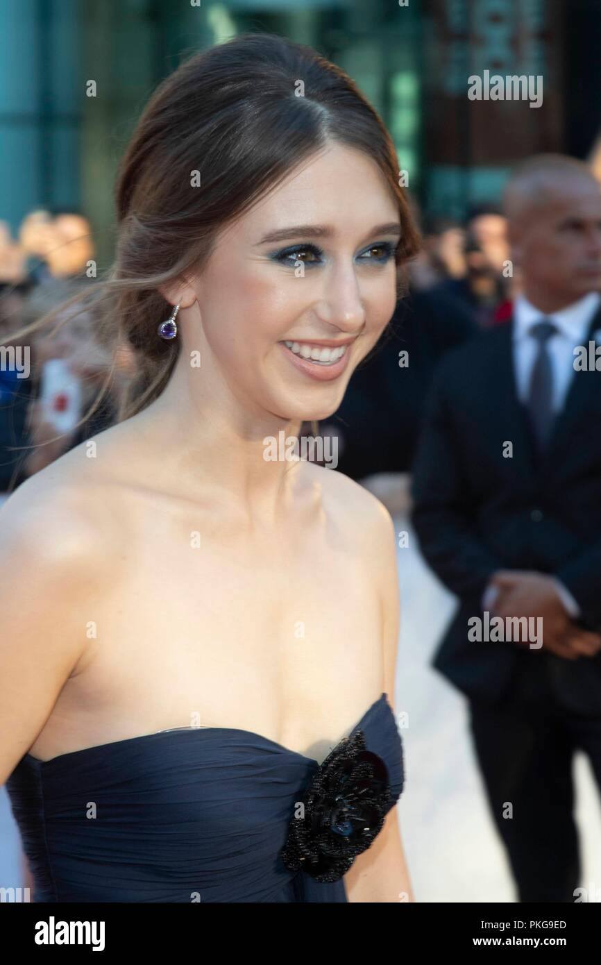 Taissa Farmiga attends the premiere of 'What They Said' during the 43rd Toronto International Film Festival, tiff, at Roy Thomson Hall in Toronto, Canada, on 12 September 2018. | usage worldwide Stock Photo