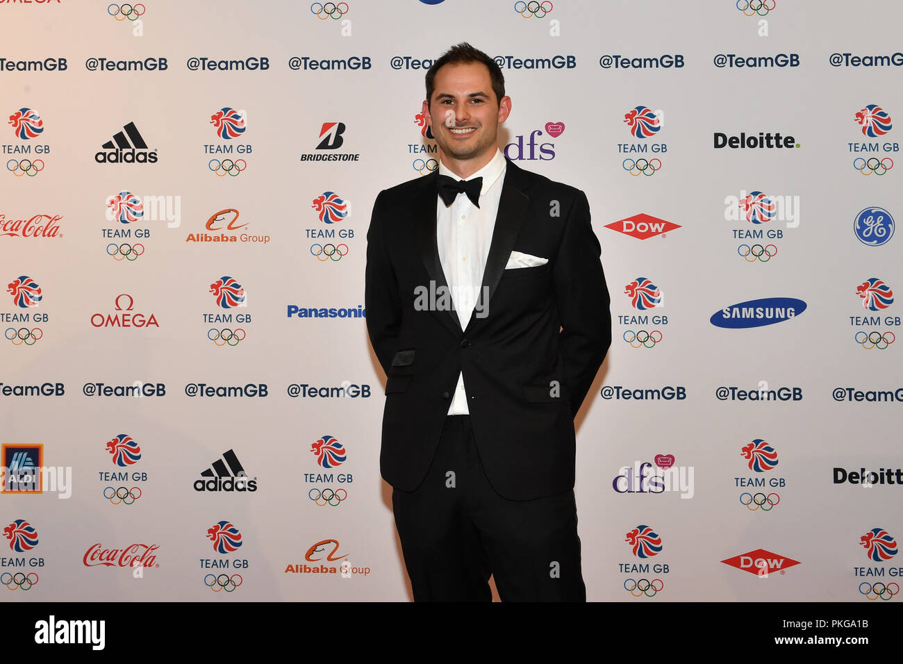 London, UK. 13th September 2018. Dom Parsons arrived at the Team GB Ball 2018 - Red Carpet Arrivals on Thursday, September 13, 2018, LONDON ENGLAND. Credit: Taka Wu/Alamy Live News - Stock Image