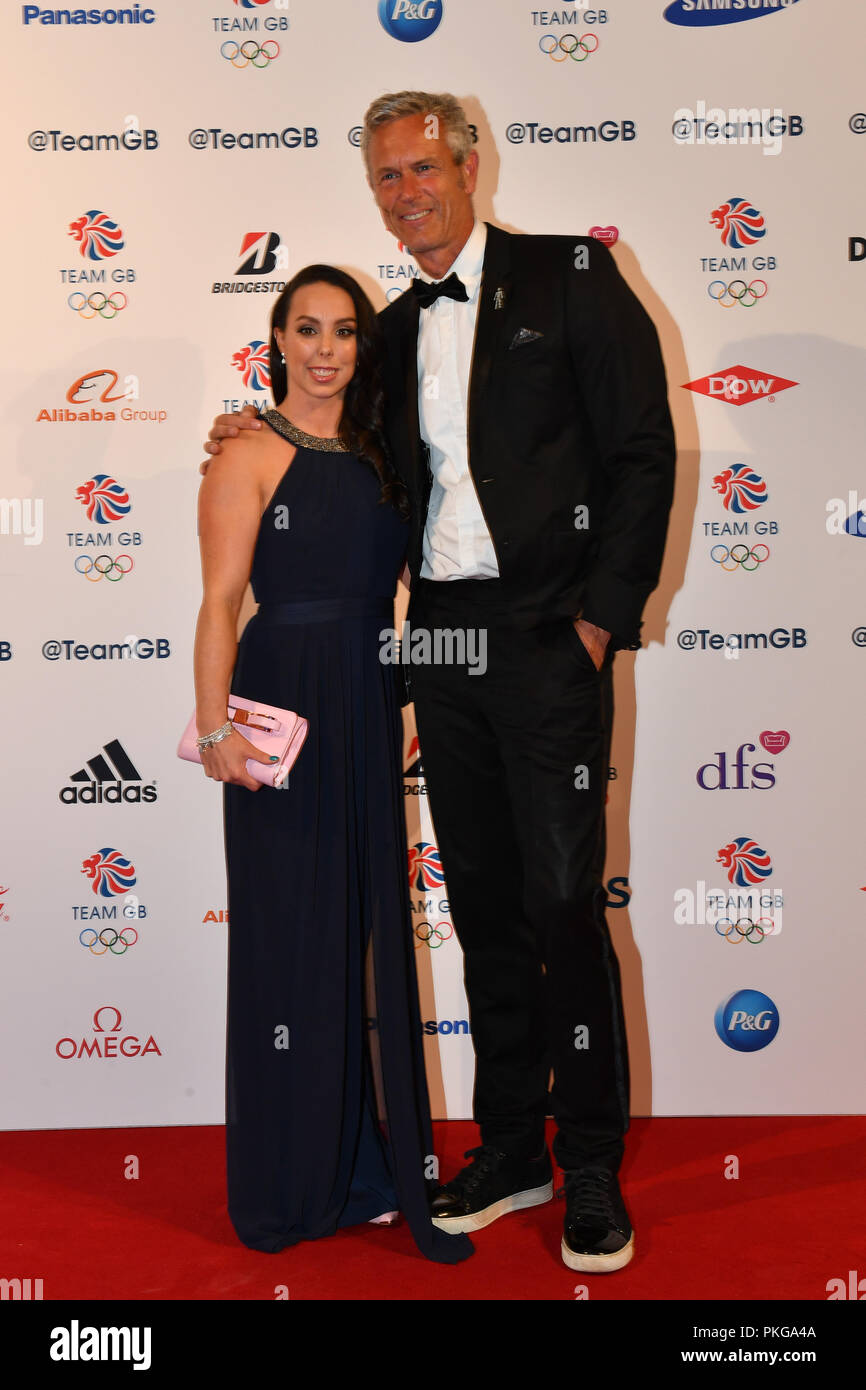 London, UK. 13th September 2018. Beth Tweddle and Mark Foster attends the Team GB Ball 2018 on Thursday, September 13, 2018, at the Royal Horticultural Halls, LONDON ENGLAND. Credit: Taka Wu/Alamy Live News - Stock Image