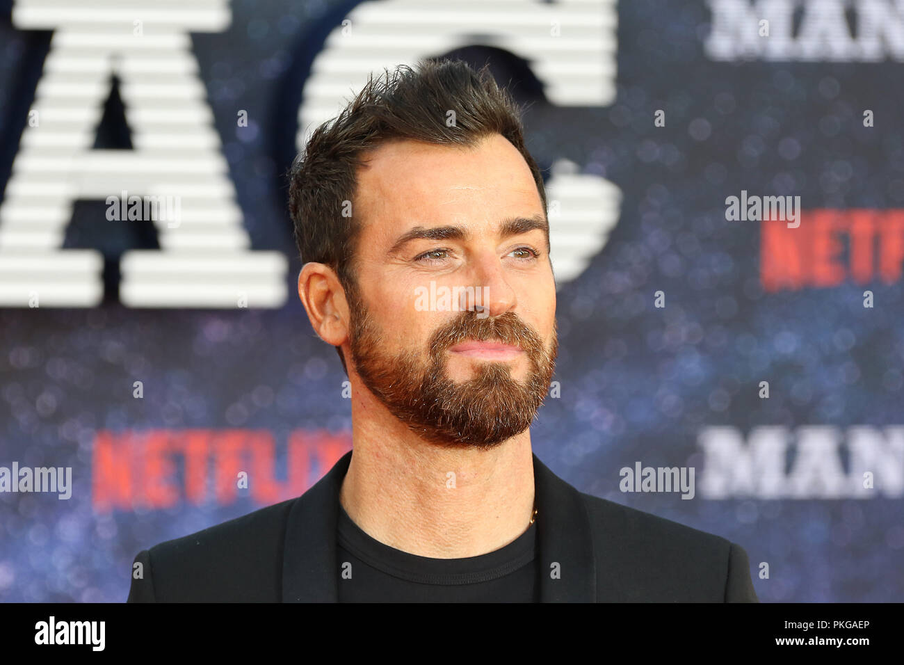 London, UK. 13th September 2018. Justin Theroux, Maniac - World Premiere, Southbank Centre�s Queen Elizabeth Hall, London, UK, 13 September 2018, Photo by Richard Goldschmidt Credit: Rich Gold/Alamy Live News - Stock Image