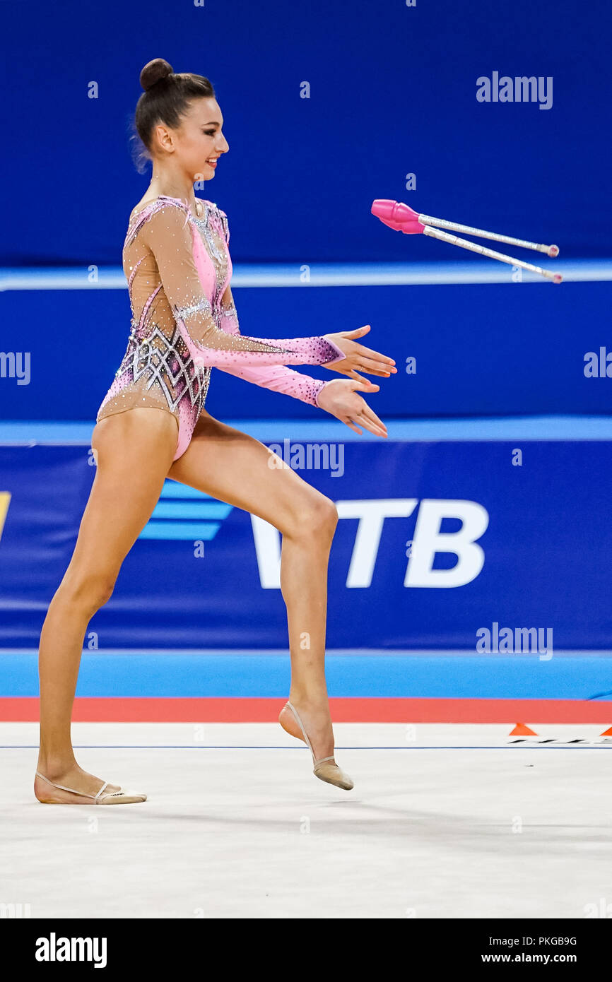 Sofia, Turkey. September 13, 2018: Nicol Ruprecht of  Austria during Rhythmic Gymnastics World Championships at the Arena Armeec in Sofia at the 36th FIG Rhythmic Gymnastics World Championships. Ulrik Pedersen/CSM Credit: Cal Sport Media/Alamy Live News - Stock Image