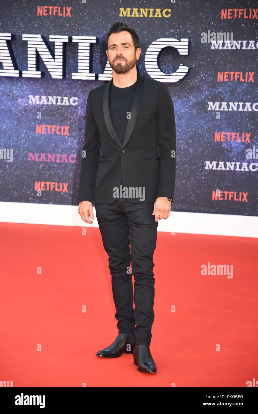 London, UK. 13th Sep 2018. Justin Theroux,'Maniac World Premiere,Queen Elizabeth Hall,Southbank,London.UK Credit: michael melia/Alamy Live News - Stock Image