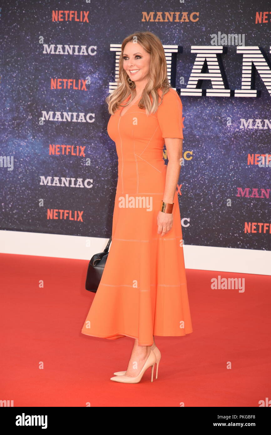 London, UK. 13th Sep 2018. Carol Vorderman,'Maniac'World Premiere,Queen Elizabeth Hall,Southbank,London Credit: michael melia/Alamy Live News - Stock Image