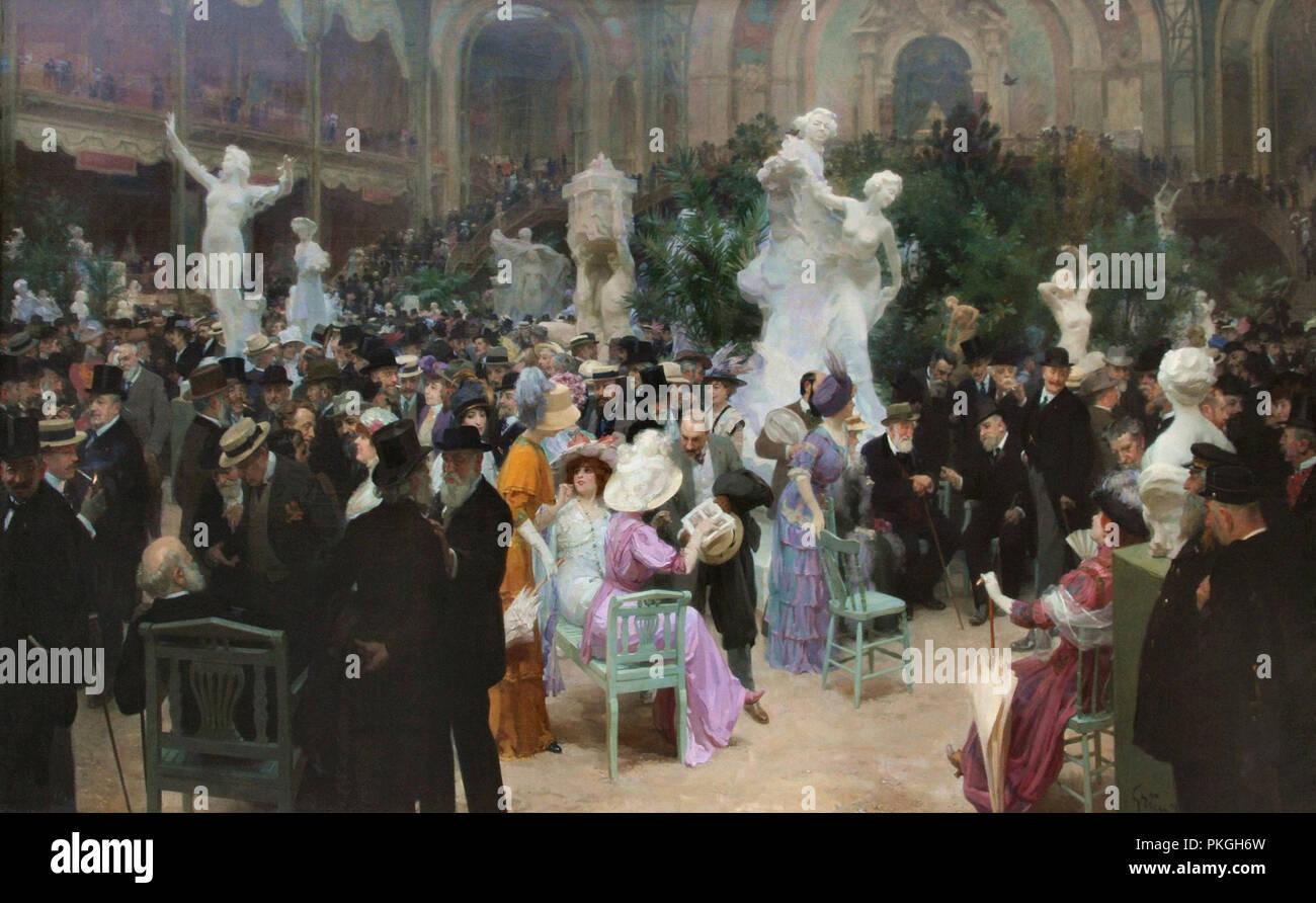 Grun  Jules Alexandre - Un Vendredi Au Salon Des Artistes Français 1 - Stock Image