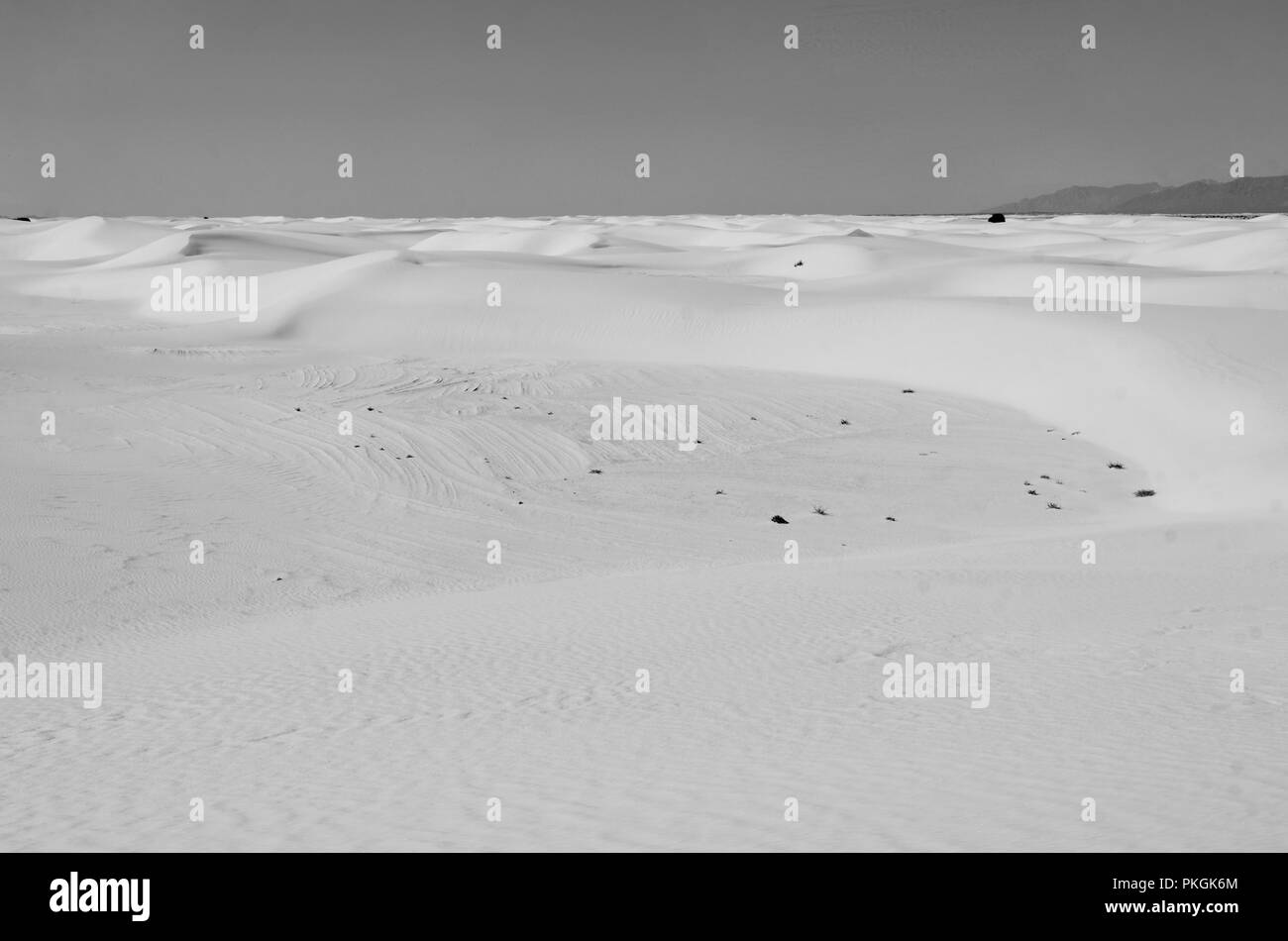 White Sands National Monument, New Mexico, USA - Stock Image