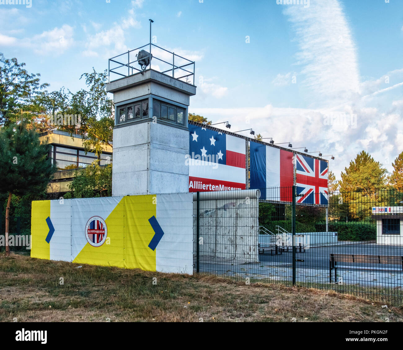 Berlin Dahlem, AlliiertenMuseum. Allied museum. The museum documents the political history and the military roles of the Western Allies - Stock Image