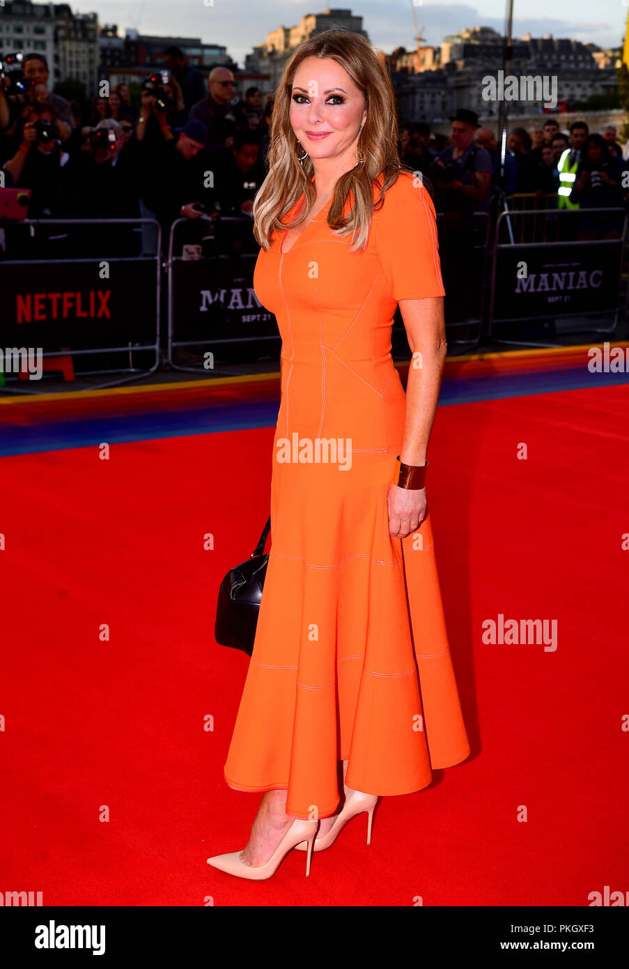 Carol Vorderman attending the Maniac World Premiere at the Southbank Centre, London. - Stock Image