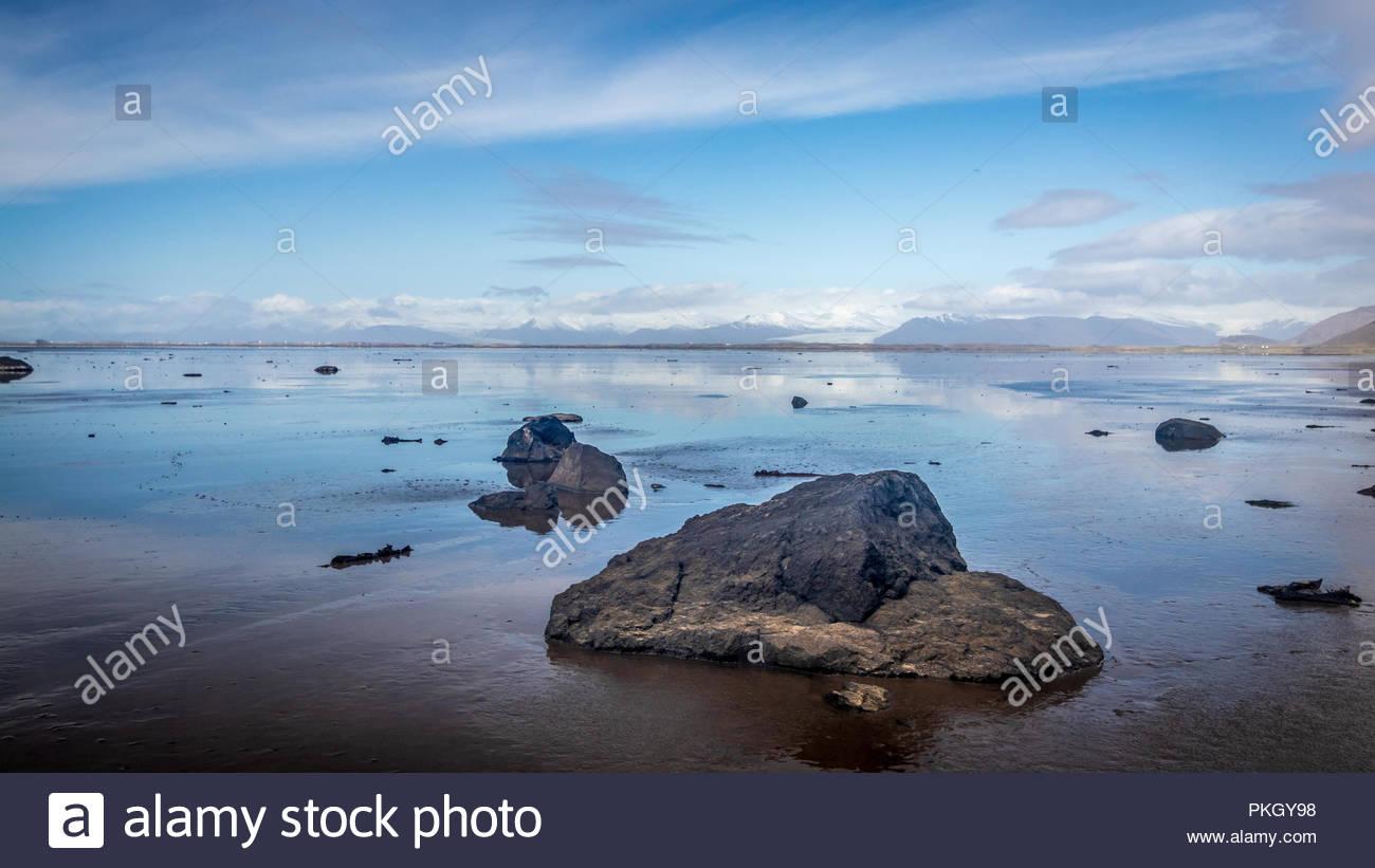 Stokksnes peninsula in Iceland Stock Photo