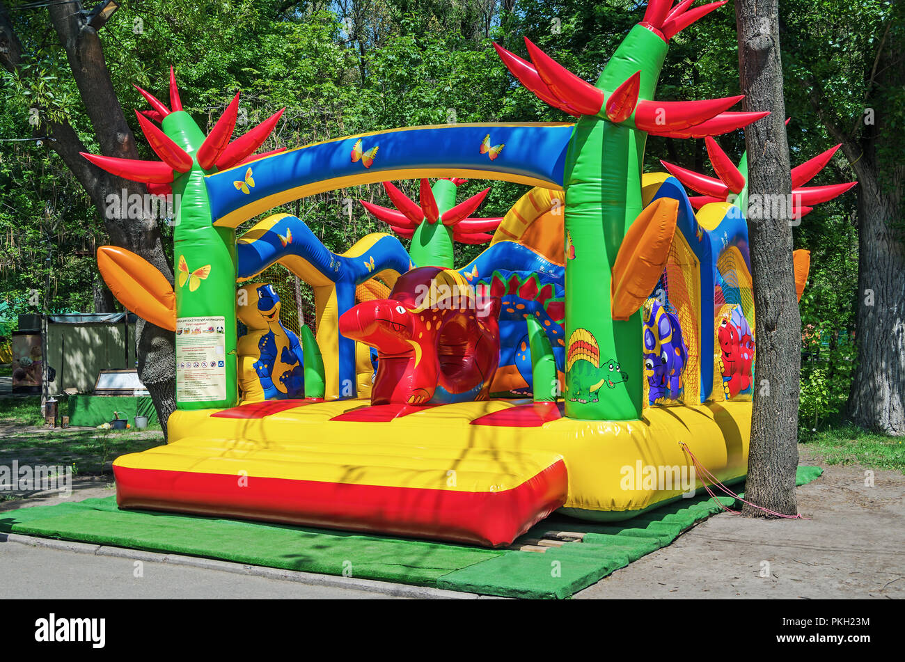 Multicolored And Funny Childrens Inflatable Trampoline For Outdoor