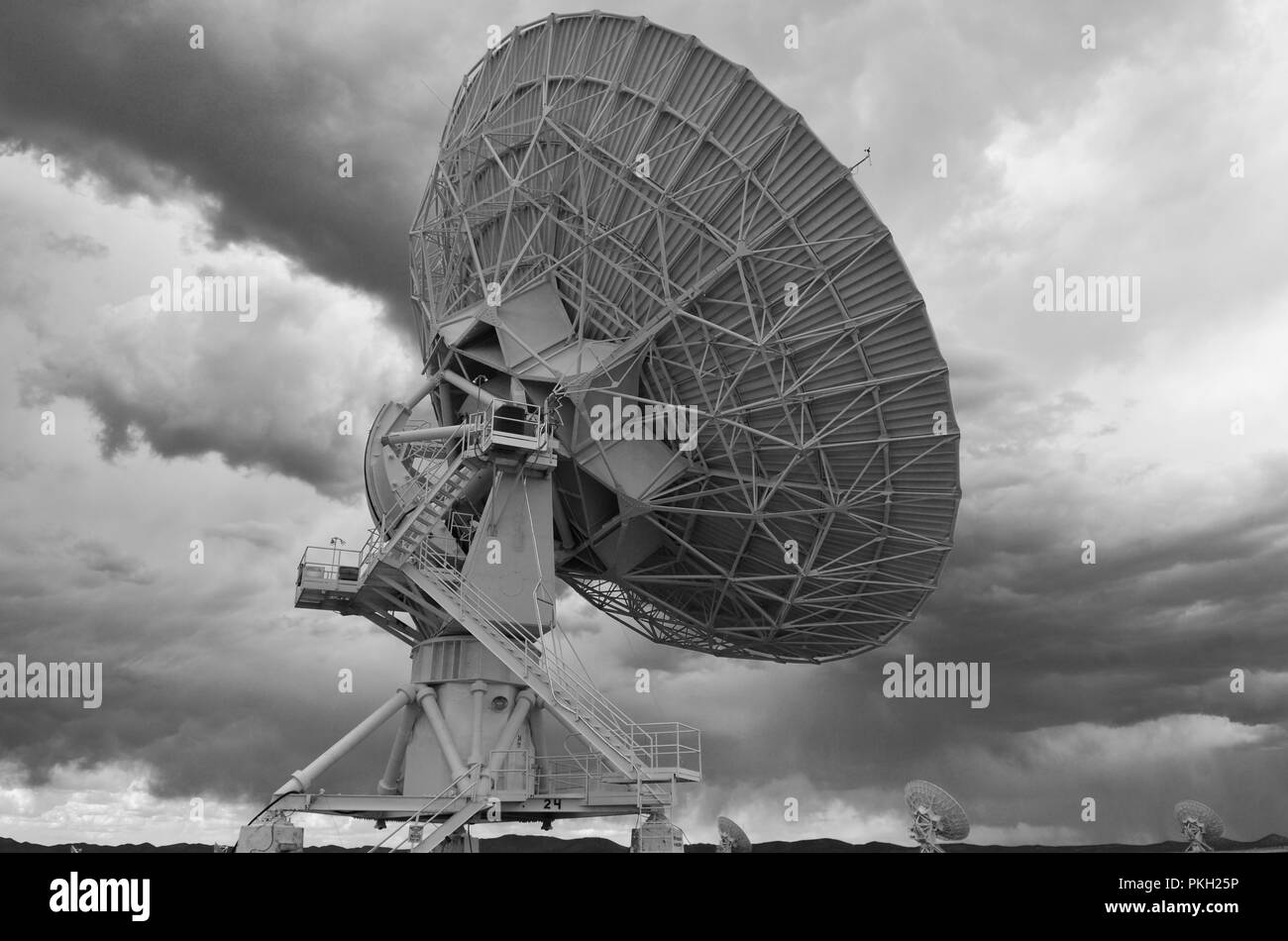 Very Large Array satellite dishes, New Mexico, USA - Stock Image