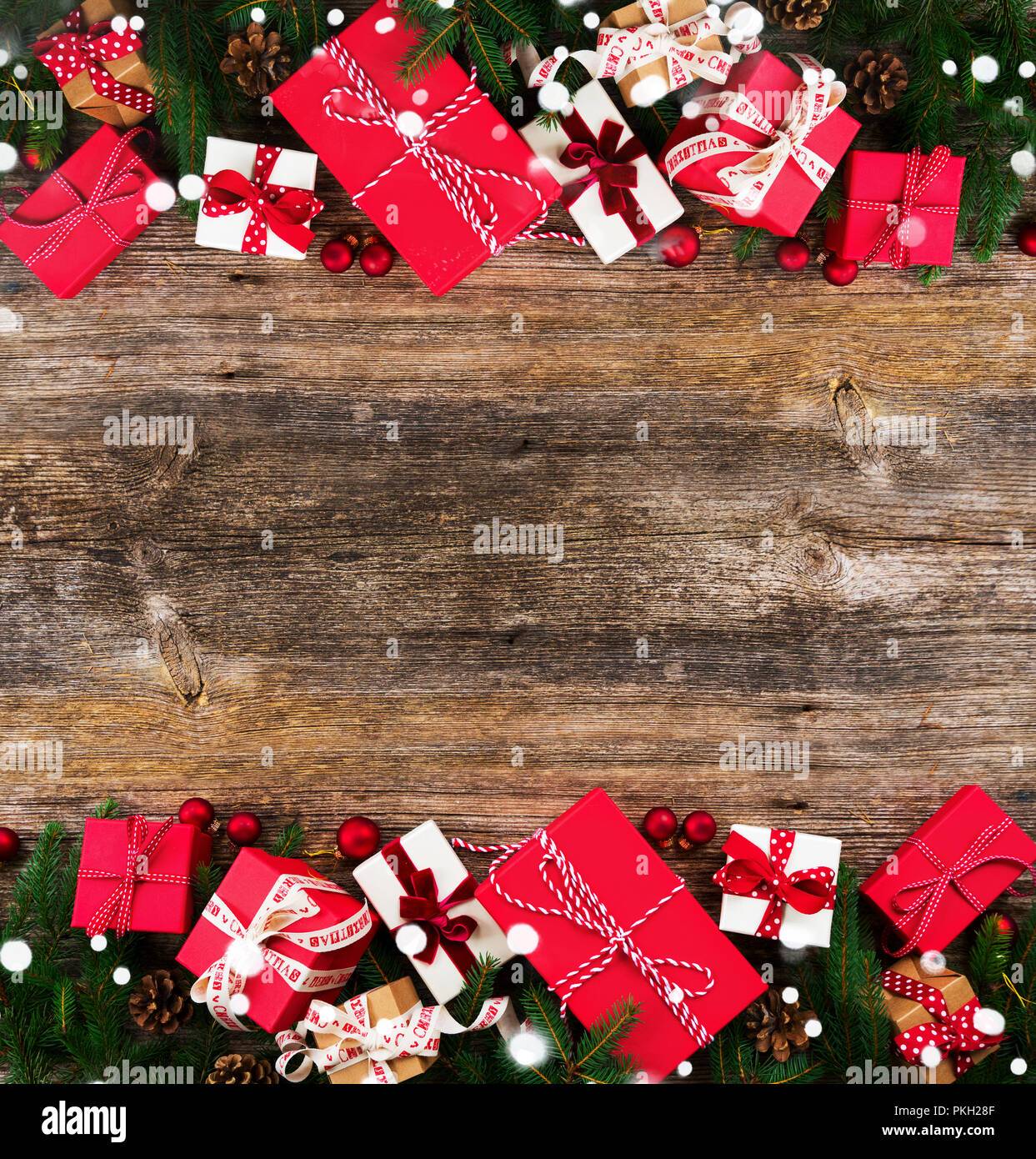 Christmas Gift Giving Images.Christmas Gift Giving Concept Christmas Presents In Red
