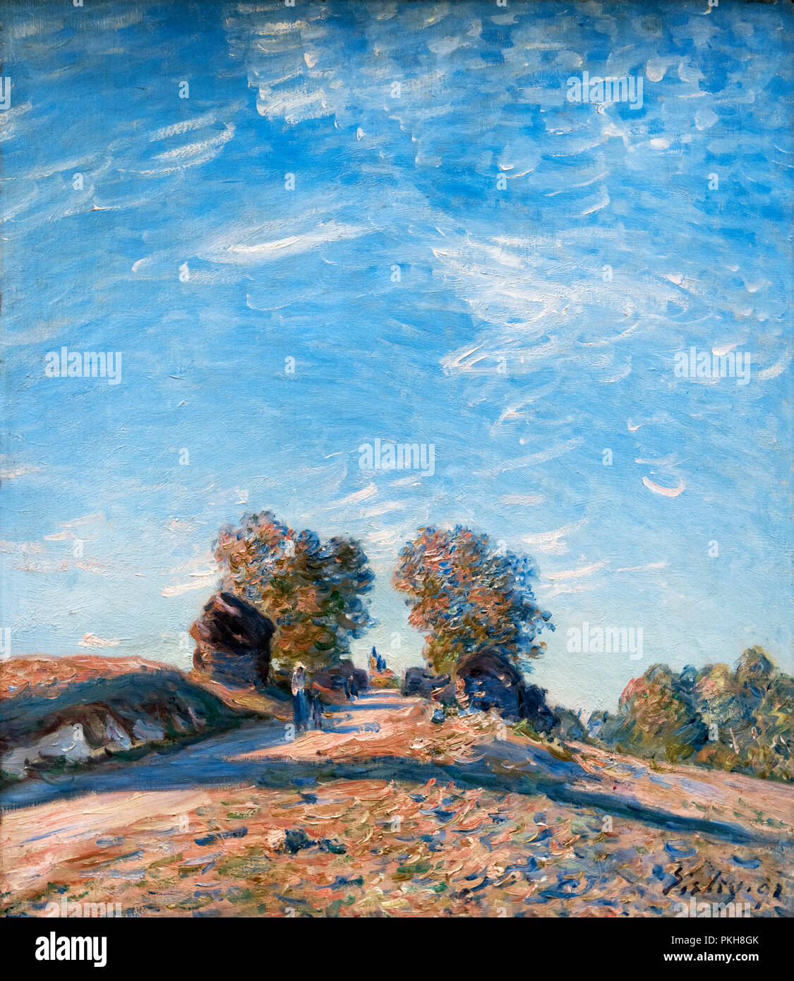 Chemin Montant au Soleil (Path climbing towards the Sun) by Alfred Sisley (1839-1899), oil on canvas, 1891 - Stock Image