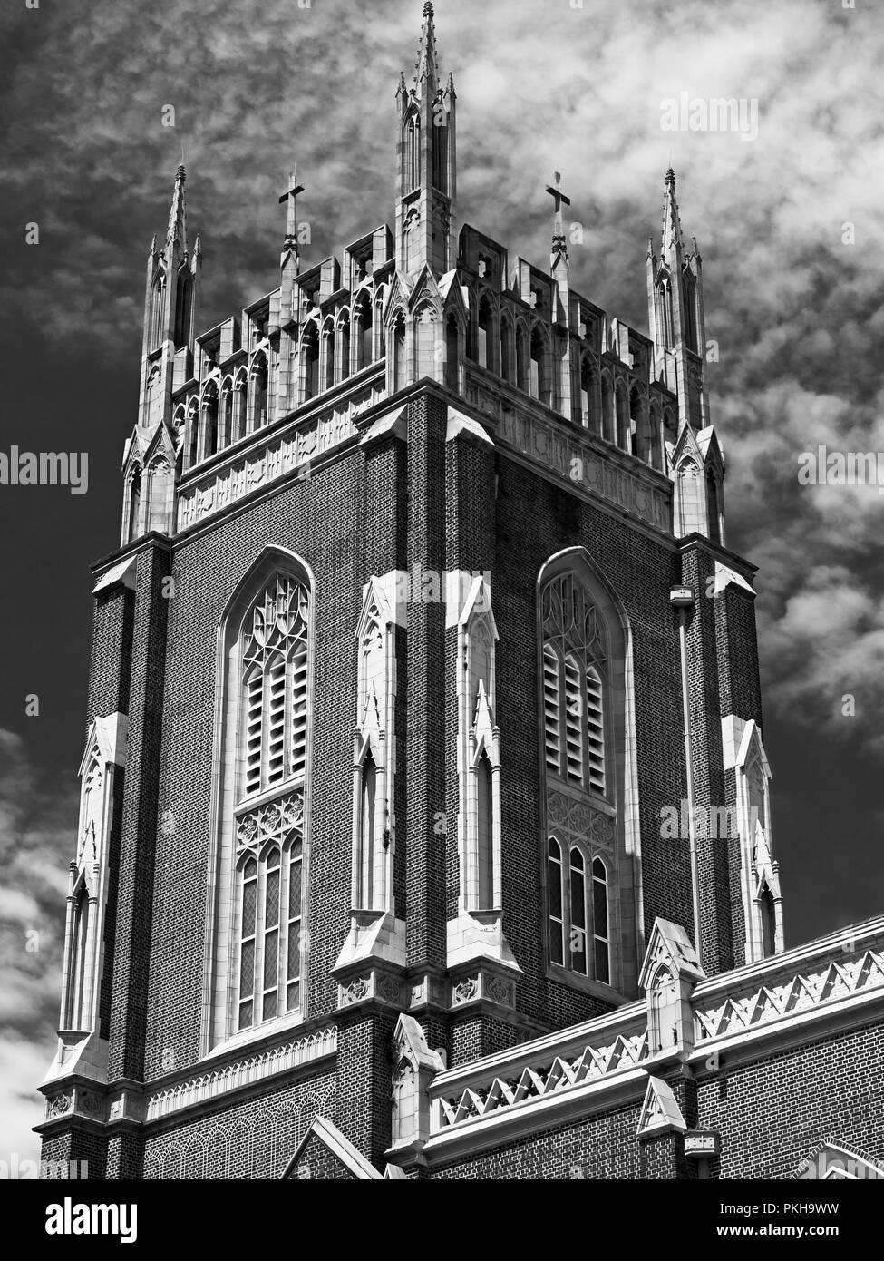 New Orleans, LA USA - May 9, 2018  -  Holy Name Of Jesus Catholic Church Loyola Campus off of St. Charles Ave 2 /v&W - Stock Image