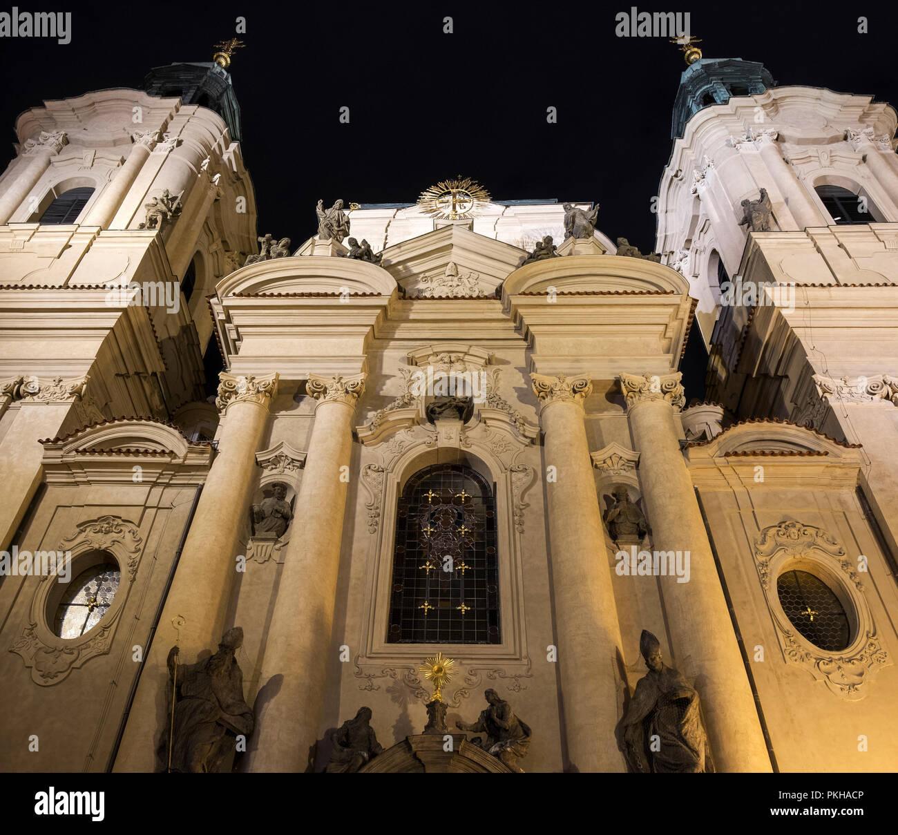 The Church Of St. Nicholas, Prague, Czech Republic, Europe - Stock Image