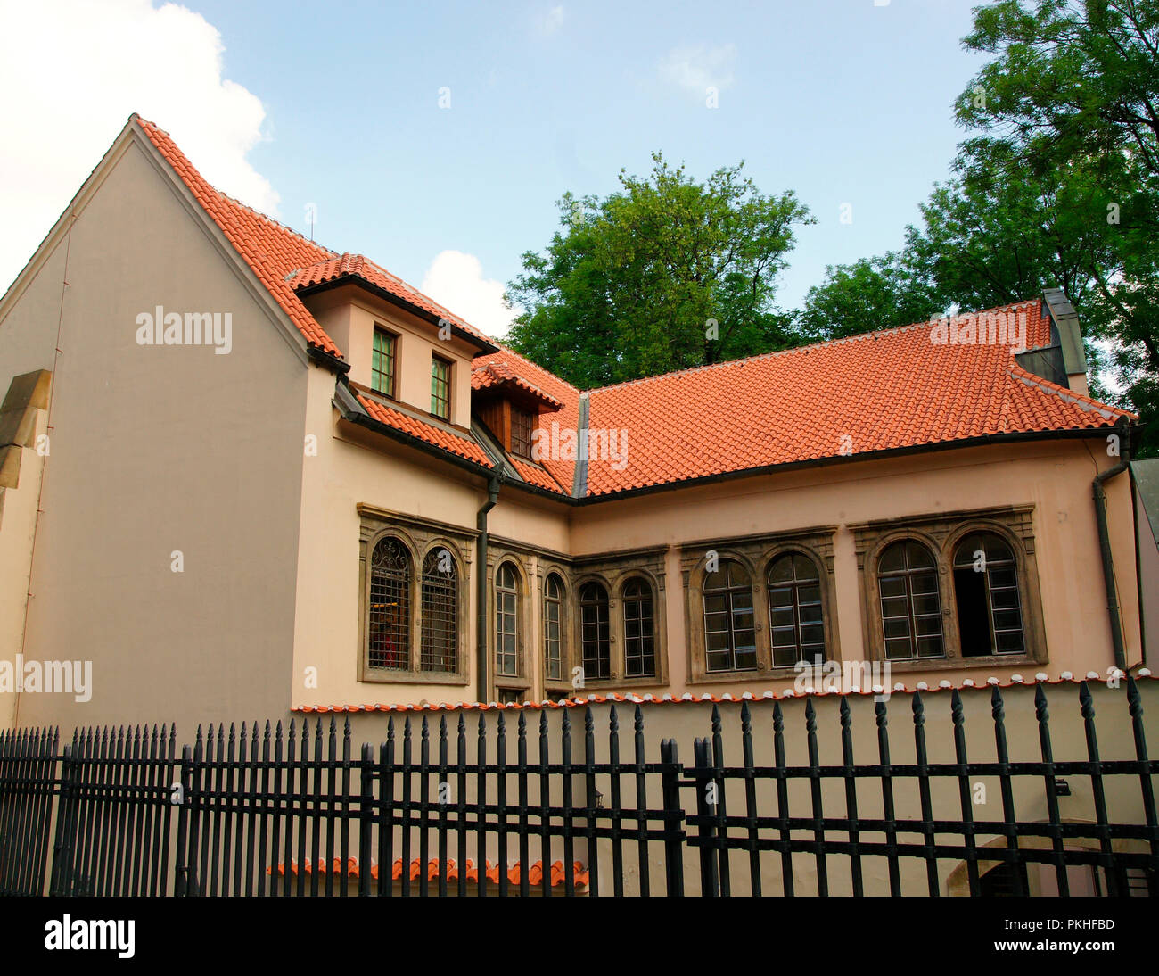 Czech Republic. Prague. Pinkas Synagogue. The second oldest surviving synagogue in Prague, 1535. Nowadays is administered by the Jewish Museum. Josefov or Jewish quarter. Old Town. - Stock Image