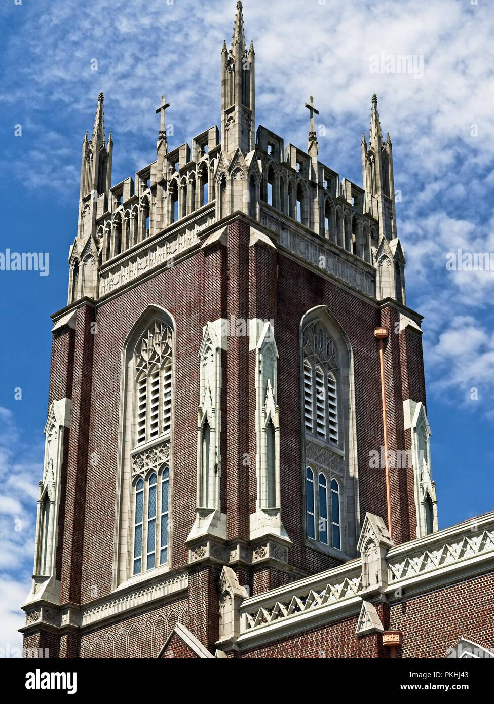 New Orleans, LA USA - May 9, 2018  -  Holy Name Of Jesus Catholic Church Loyola Campus off of St. Charles Ave 2 - Stock Image