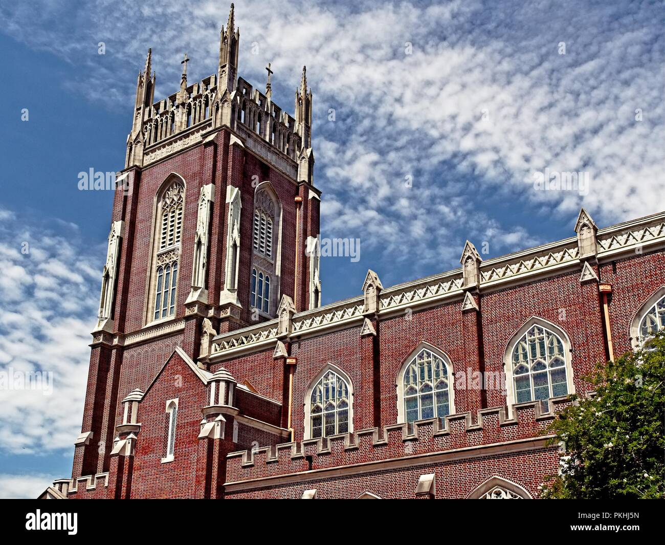 New Orleans, LA USA - May 9, 2018  -  Holy Name Of Jesus Catholic Church Loyola Campus off of St. Charles Ave - Stock Image