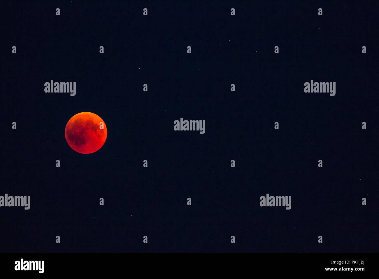 Blood moon - Stock Image