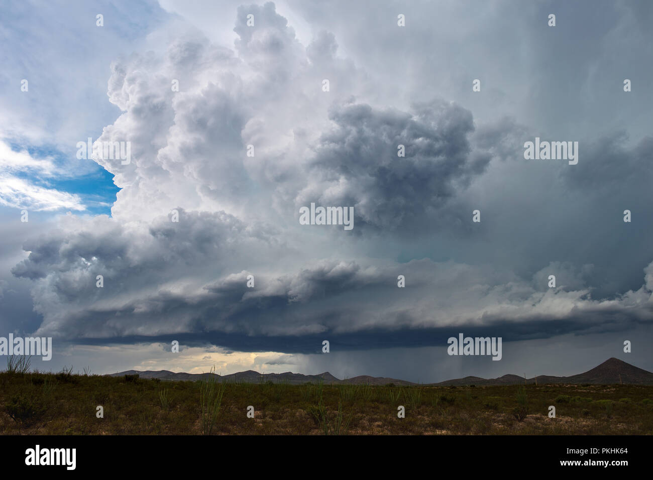 Supercell thunderstorm cloud - Stock Image