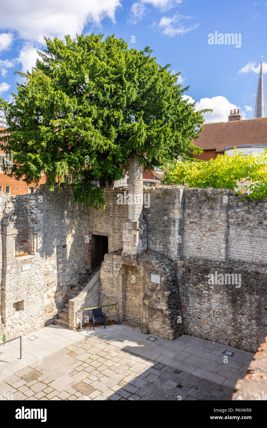King John's Palace, a ruined Norman merchant's house located within the Old Town Walls in Southampton, Old Town, England, UK - Stock Image