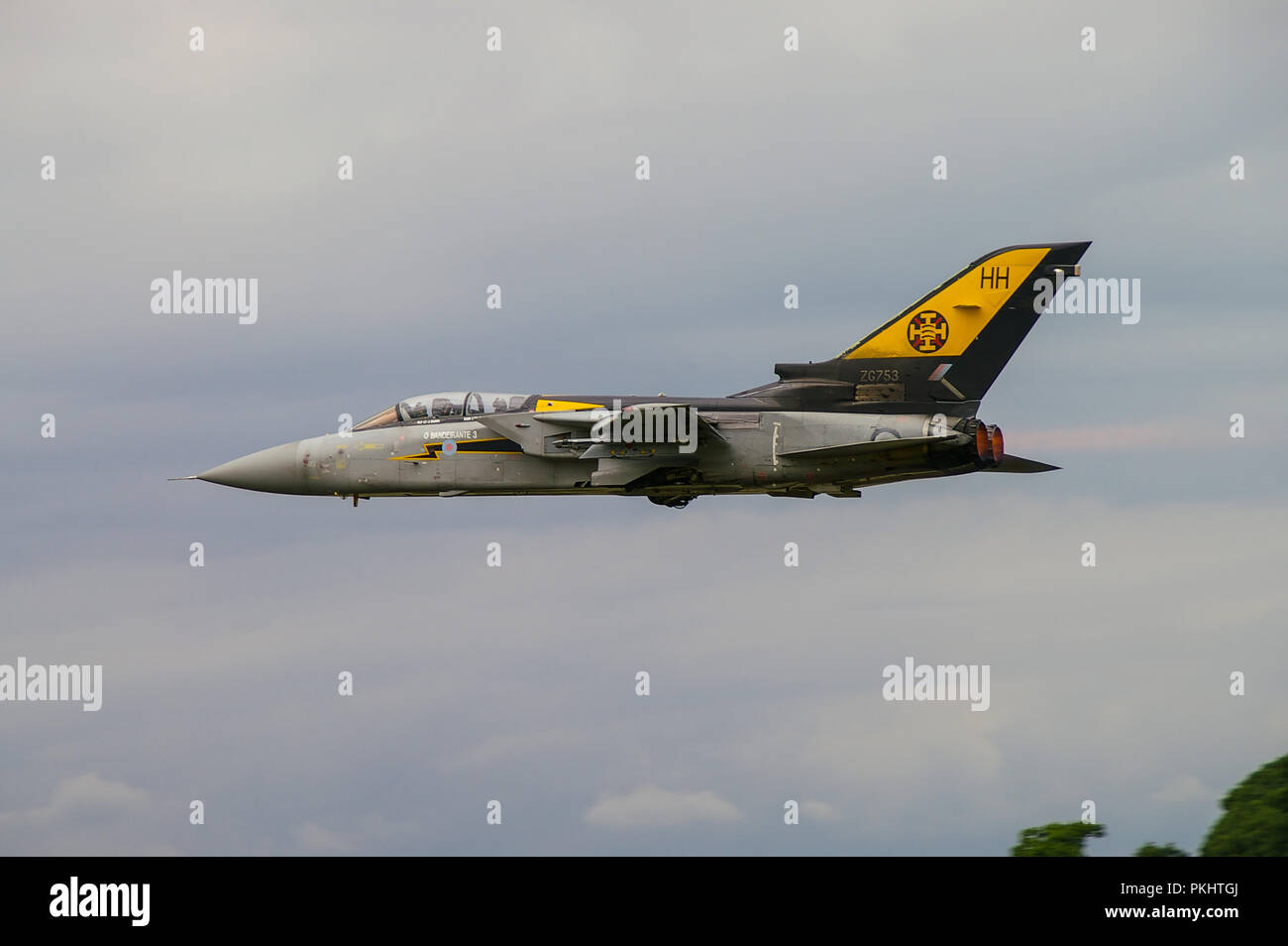 Royal Air Force Panavia Tornado F3 jet fighter plane. RAF Tornado ADV Air Defence Variant ZG753 HH 0 Bandeirante 3 No 111 (Fighter) squadron - Stock Image