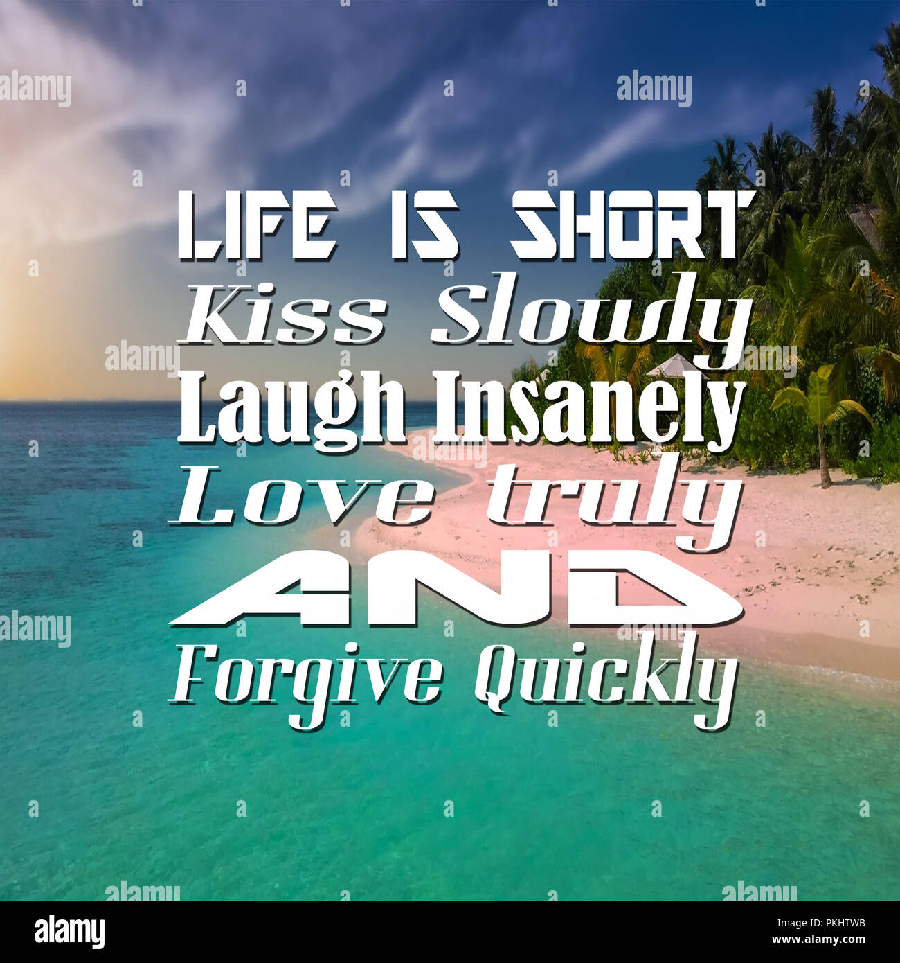 Short Inspirational Quotes About Life: Inspirational Quotes Life Is Short Kiss Slowly Laugh