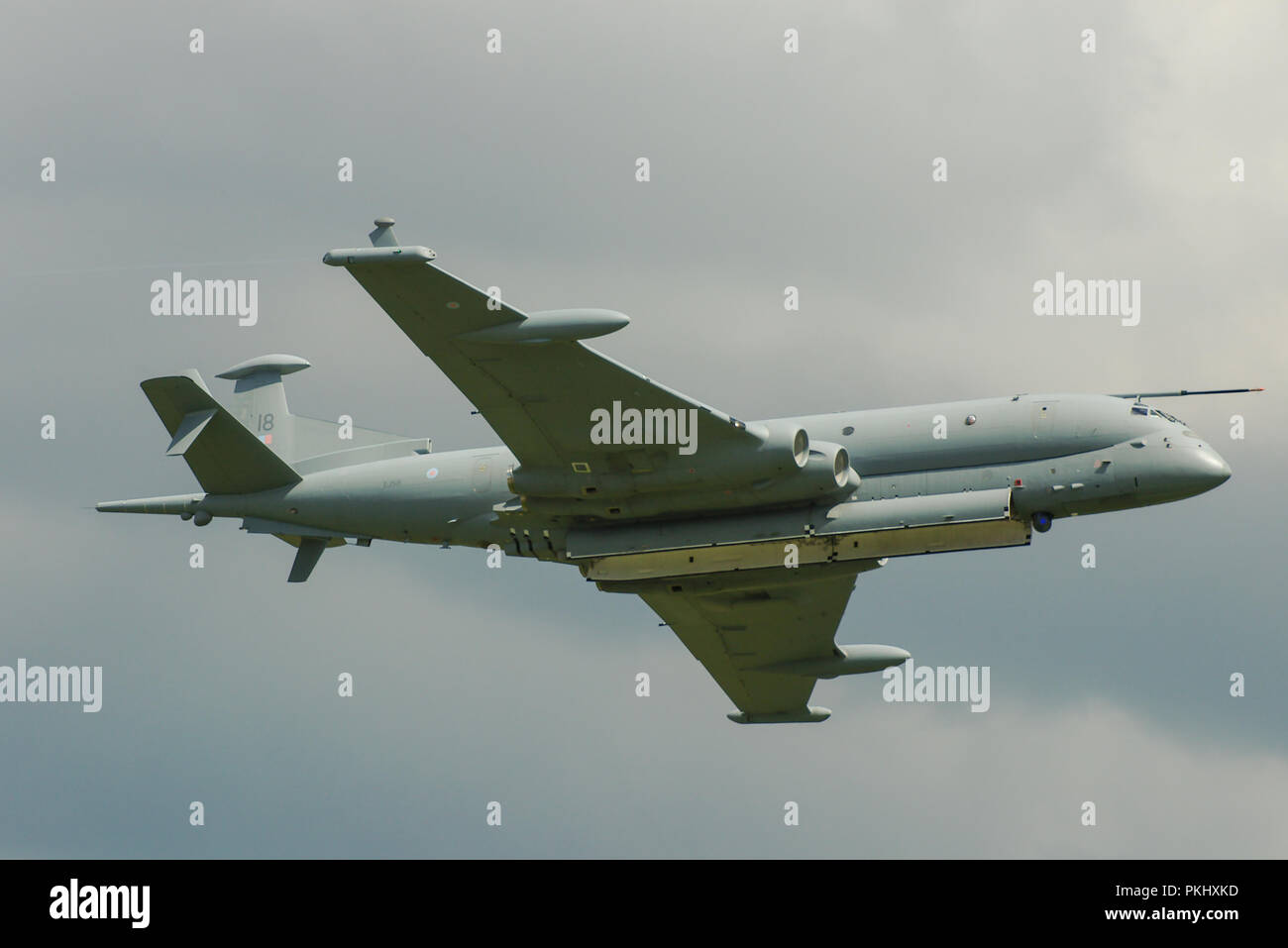 BAE Systems Nimrod MRA4 maritime patrol and attack aircraft intended to replace the Hawker Siddeley Nimrod MR2. Anti submarine warfare. ZJ518 Stock Photo
