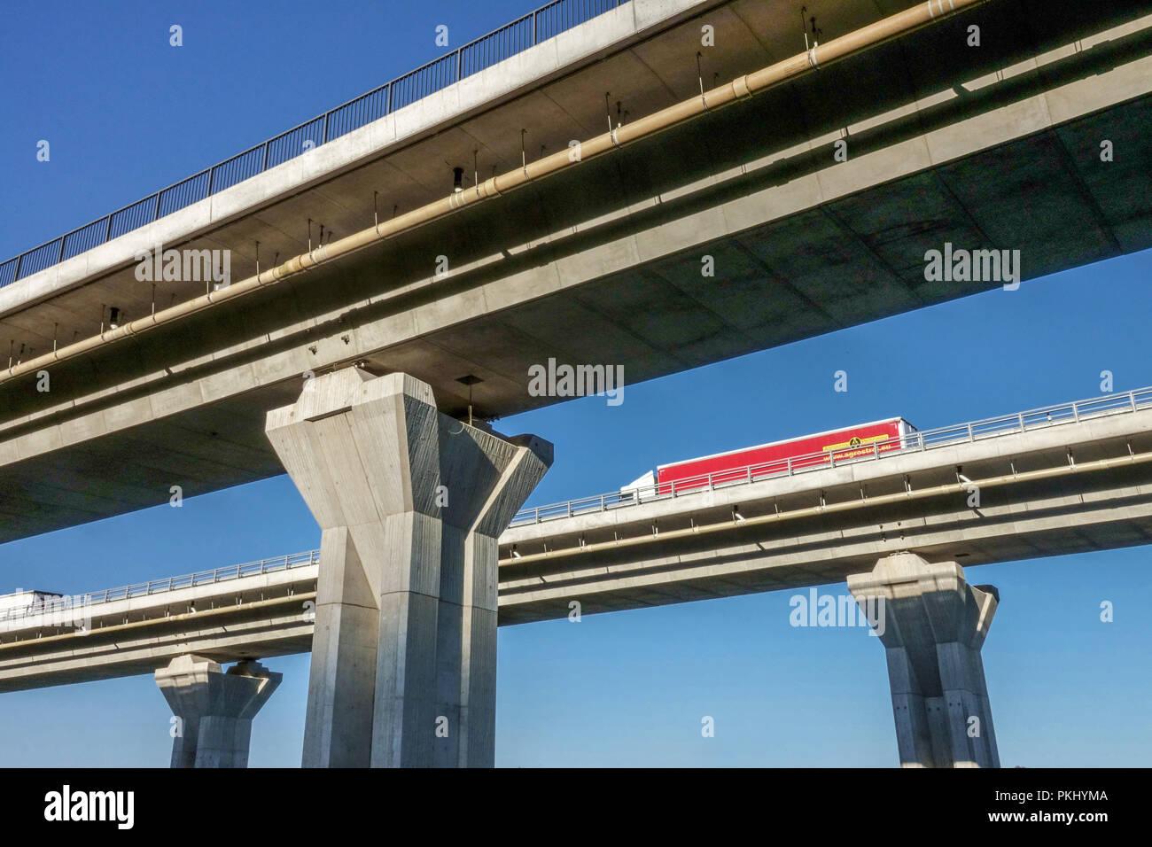 Highway Bridge near Prackovice, Czech Republic - Stock Image
